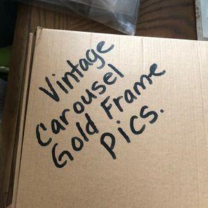 Vintage carousel frames gold n black